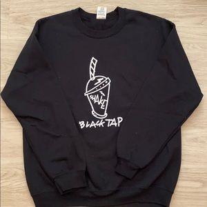 Black Tap crew neck sweatshirt